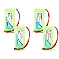 4x Pack - AT&T TL86009 Battery - Replacement for AT&T Cordless Phone Battery (700mAh, 2.4V, NI-MH)