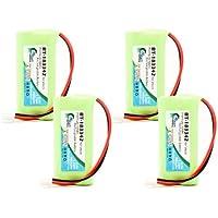 4x Pack - Motorola L404 Battery - Replacement for Motorola Cordless Phone Battery (700mAh, 2.4V, NI-MH)