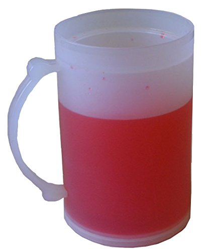 (Double Wall Frosty Freezer Cold Mug - 16-oz, 3 Colors Available (Red))