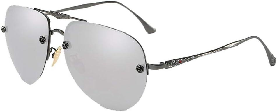 WUJIEXIAN-JXL UV400 Carven Point Drill Glasses Men and Women Sunglasses Drive Mirror Driver Mirror Polarized Sunglasses Glasses (Color : Gray) 41gVvh8zOALSL1000_