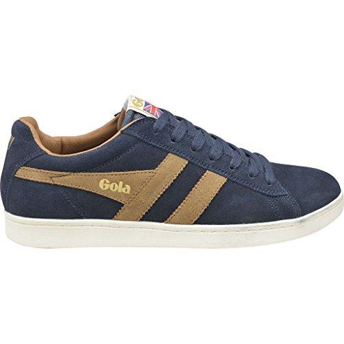 Gola Men Footwear Sneakers - Gola Men's Equipe Suede Fashion Sneaker, Navy/Tobacco, 13 M US