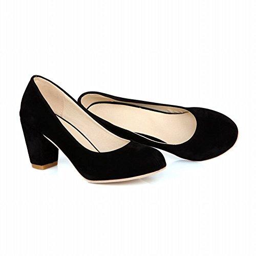 Carolbar Womens Cuff Fashion Elegance Charms High Chunky Heel Dress Pumps Shoes Black KyaefCoq