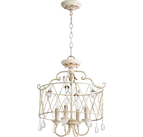 Quorum Lighting 2844-4-70, Venice Drum Pendant, 4 Light, 80 Total Watts, Persian White - Four Light Pendant Finish