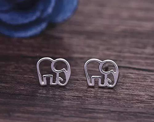 Tiny Elephant stud earrings - Elephant Silhouette Silver Earrings - Animal Jewelry - Women, Girls small stud earrings, Silver