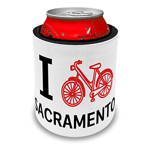 NEONBLOND I Love Cycling City Sacramento Slap Can Cooler Insulator Sleeve