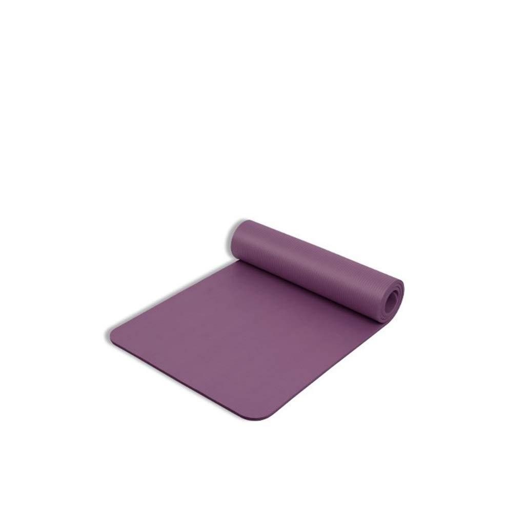 Violet L-HOME Tapis de Yoga en Caoutchouc antidérapant 181  60  1CM   Tapis de Pratique de Danse Fitness (Couleur   violet)
