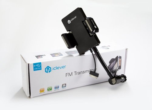 iClever - Wireless FM Transmitter / Car Adapter Charger for iPod Touch, iPhone Charge your iPod / iPhone while using FM transmitter 4GB, 8GB, 16GB, 32GB, 64GB, 120GB, 160GB