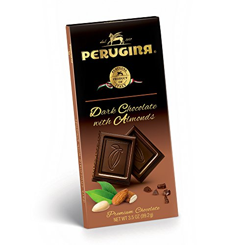 Perugina Dark Chocolate with Almonds Bar 3.5 oz each (1 Item Per (Chocolate Enrobed Almonds)