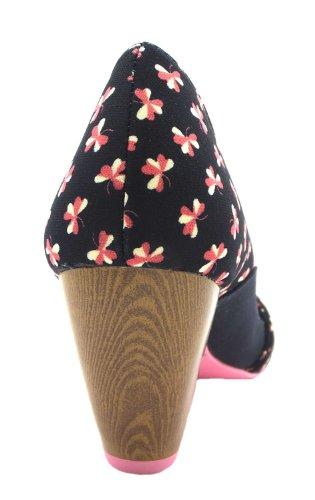 para corte Ava de textil Ruby Shoo mujer Zapatos xwgqYaBS