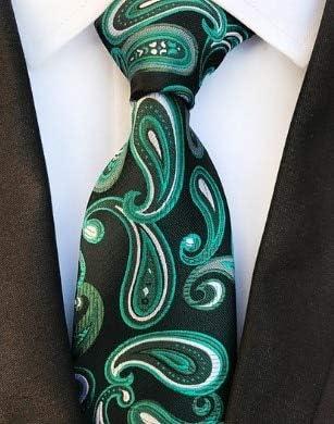 LFLJIE Nuevos Corbatas de 8 cm de Color Oscuro para Hombre Corbata ...