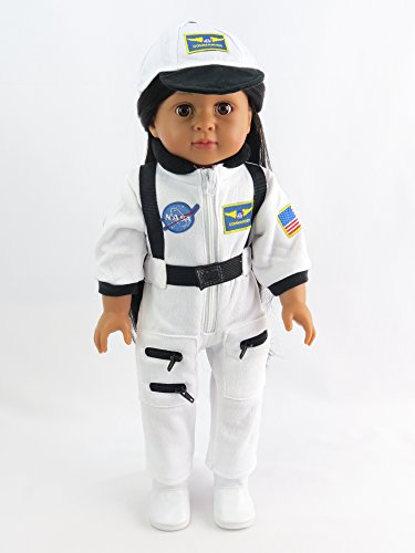 Astronaut White Space Suit   Fits 18  American Girl Dolls  Madame Alexander  Our Generation  Etc    18 Inch Doll Clothes