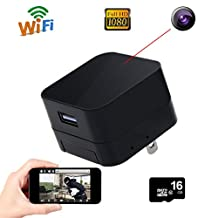 Corprit Wireless Hidden Spy Camera USB Wall Charger Adapter Covert Nanny Camera HD 1080P Home Security Camera with Free 16GB Micro SD Card