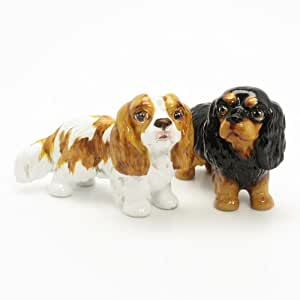 Cavalier King Charles Spaniel Dog Ceramic Figurine Salt Pepper Shaker 00005 Ceramic Handmade Dog Lover Gift Collectible Home Decor Art and Crafts