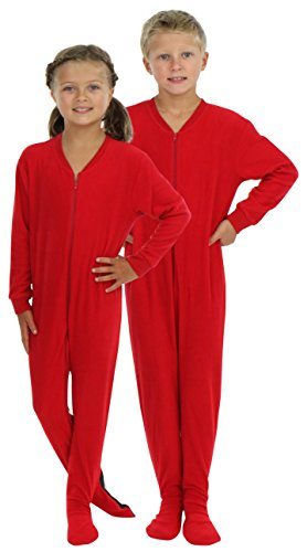 SleepytimePjs Infant & Kids Red Fleece Onesie PJs Footed Pajamas (ST717-I-RED-18MO)