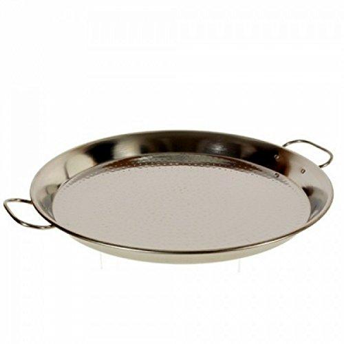 "9.5"" - 24cm Vaello Stainless Steel Heavy Gauge Paella Pan"