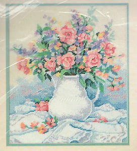 (From The Heart Porcelain & Lace Bouquet Needlepoint Kit)