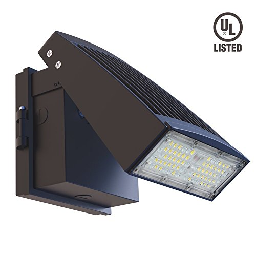 Fixtures Sky Compliant Light Dark (6,600 Lumens - 55 Watt Wall Down Light- slimline Semi Cut off LED Wall Light - Tiltable - dark sky compliant - 5000K - Adjusts from 0 to 45 degrees - Wall Pack High Effiiency)