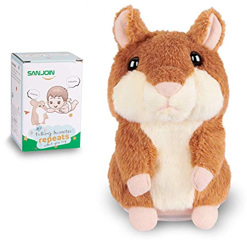 Kids Toys Talking Hamster Repeats What You Say, Talking Plush Interactive Toys Repeating Plush Animal Toy, Fun Christmas…