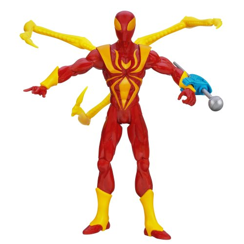 [Marvel Ultimate Spider-Man Nano Claw Iron Spider-Man Figure 6 Inches] (Iron Spider Costume)