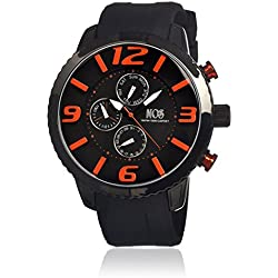 Mos Men's MOSML103 Milan Black Polyurethane Watch