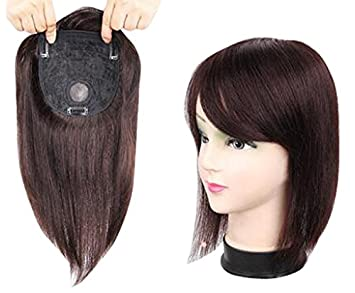 TOPJIN Womens  Seamless Clip in Silky Straight Real Human Hair Top Hair  Extensions Wigs Toupee 2059837308