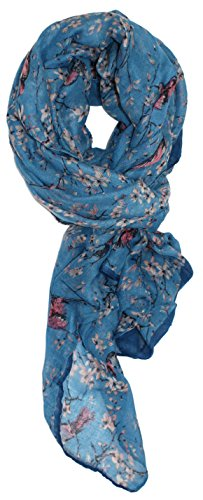 - Ted and Jack - Songbird Cherry Blossom Print in Mineral Blue