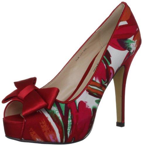 Lunar Flr131 - zapatos de tacón de material sintético mujer rojo - rojo