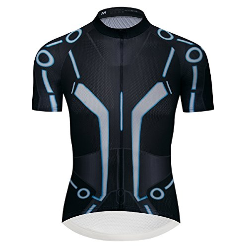 Lo.gas Men's Tron Cycling Jersey Breathable Quick Dry Bike Shirt Short Sleeves ()