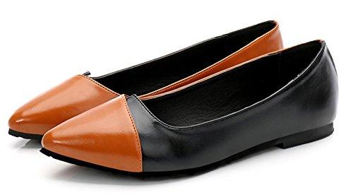 de de estrecha color deporte mujer bloques Aisun Zapatillas zapatillas punta con marrón y de Anpw1d0f