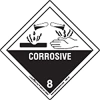 Labelmaster HML13C Corrosive Worded Label, Paper, Hazmat, 4 x 4 (Pack of 100)