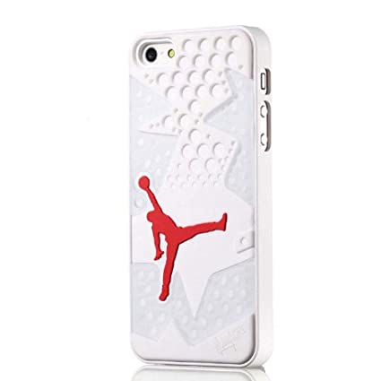 Air jordan iPhone 5/5s coque de protection blanc 6 jordan plante de la  chaussure