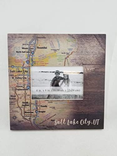 Salt Lake City Utah Souvenir Wooden Picture Frames for Your Home, Wall, Tabletop, Desk