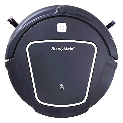 ReadyMaid Robotic Vacuum Cleaner with Large Dry/Wet Mop & Virtual Wall Device,Black