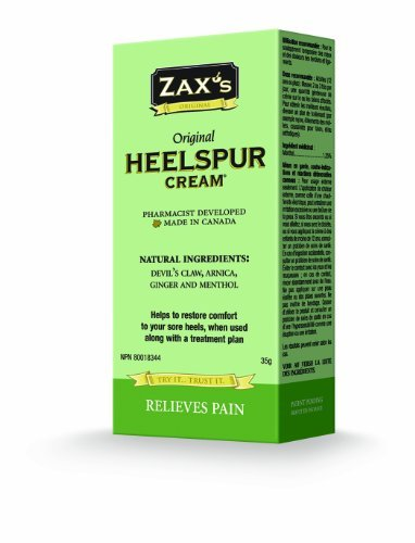Zax's Original Heelspur Cream - Top Selling Foot Pain Cream: Relieve Pain & Inflammation Now from: Plantar Fasciitis, Heel Spurs, Shin Splints, Achille's Injuries and Morton's Neuroma. Not Freezing or Numbing. Pharmacist Developed. Natural Ingredients. ()