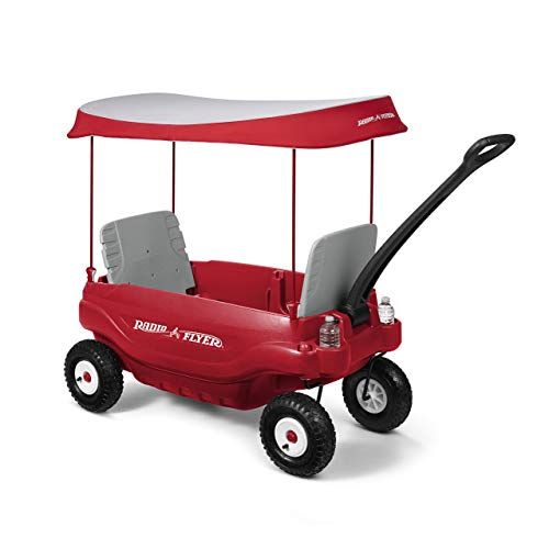 Radio Flyer Deluxe All-Terrain Family Wagon Ride On, Red (Renewed) ()
