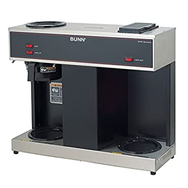 BUNN VPS 12-Cup Pourover Commercial Coffee Brewer, with 3 Warmers