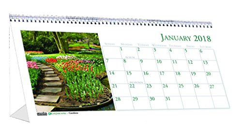 House of Doolittle 2018 Monthly Desktop Tent Calendar, Gardens, 8.5 x 4.5
