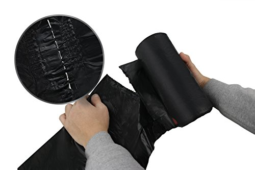 [해외]Begale 13 Gallon Drawstring 일반 쓰레기 봉투, 검정, 110 Counts 3 Rolls/Begale 13 Gallon Drawstring Medium Trash Bags, Black, 110 Counts  3 Rolls