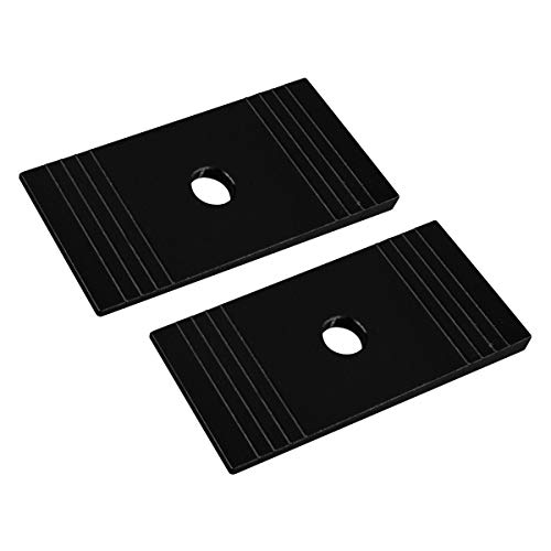 Liftcraft - Universal Pinion Alignment Shims for All Models with Rear Leaf Springs or Single Pin Blocks 2WD 4WD | T6 Aircraft Billet Aluminum Angle Shims ()