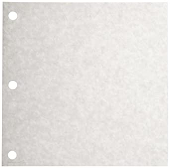 "Dixie W46 White 3 Hole Drilled Patty Paper, 5.19"" Length x 5.19"" Width (18 Packs of 1555 Sheets)"