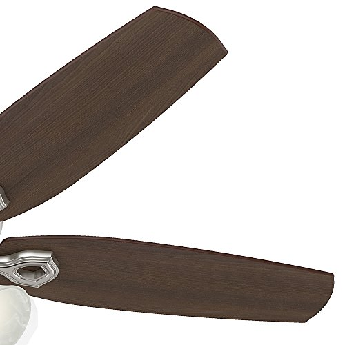 Hunter 53237 Builder Plus 52-Inch Ceiling Fan with Five Brazilian Cherry/Harvest Mahogany Blades and Swirled Marble Glass Light Kit, Brushed Nickel by Hunter Fan Company (Image #5)