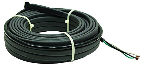 Heating Pipe Water Cable (King Electric SRP246-125 Pipe Freeze Cable Kit, 125-ft, Black)