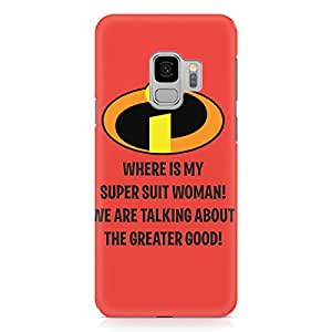 Loud Universe Super Hero Suit Quote Samsung S9 Case Incredibles Samsung S9 Cover with 3d Wrap around Edges