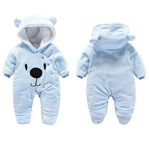 G-Kids Baby winter fleece overall jumpsuit pasgeboren meisje jongen schattige beer romper sneeuwpak outfits speelpak met…