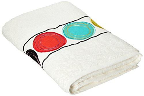 Creative Bath Products Dot Swirl Embroidered Bath Towel,