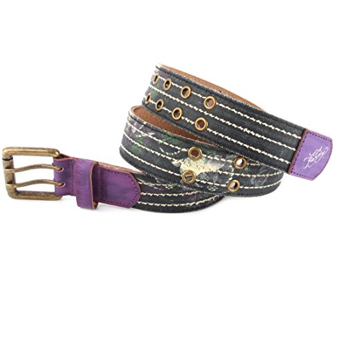 Ed Hardy EH3336 Womens Paradise Canvas Belt - Black/Medium