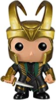 Funko POP Marvel (BOBBLE):  Helmet Loki Action Figure