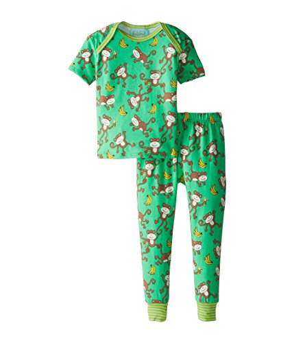 BedHead Kids Unisex Short Sleeve Baby Tee & Pant Set (Infant) Going Bananas Pajama Set 6-12 Months