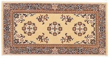 Oriental Virgin Wool Hearth Rug - 22 x 44 Beige Oriental Virgin Wool Hearth Rug