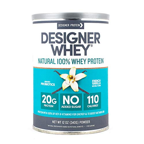 Designer Whey Protein Powder, French Vanilla, 12 Ounce, Non GMO
